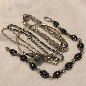 Silver bracelet bundle.